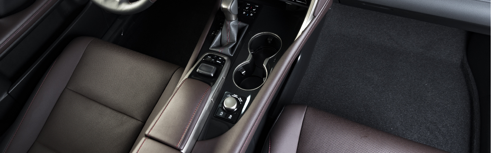 center console of a vehicle